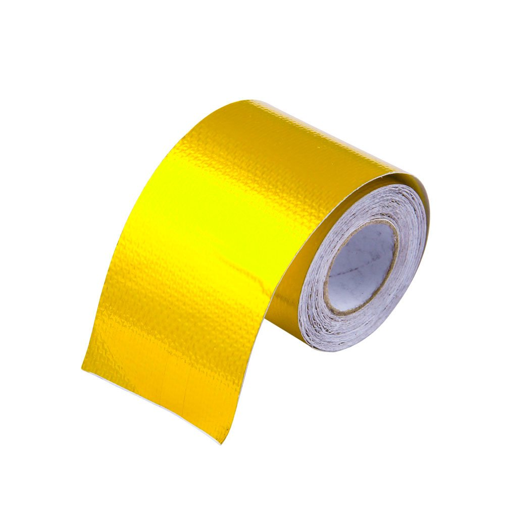 EVER Universal 2''x 400'' Self Adhesive Reflective Gold Heat Wrap Tape Continuous Roll High Temp Shield Reflective