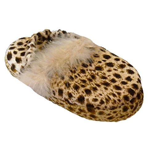 - Infant Toddler Girls Leopard Print Slippers Feather Boa Cheetah House Shoes 7-8