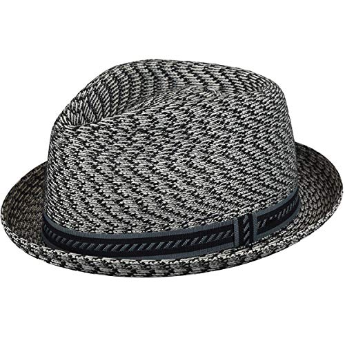 (Bailey of Hollywood Men's Mannes Braided Trilby Hat, Charcoal/Multi)
