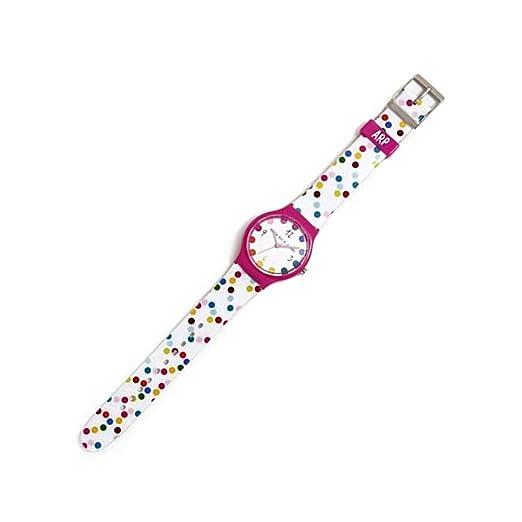 Agatha Ruiz de la Prada Reloj para Mujer Analógico Cuarzo japonés con Correa de Plástico AGR235: Amazon.es: Relojes