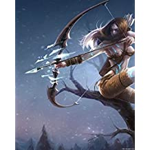 Ashe poster League of Legends Hero 22 LoL Art Print Gamers Wall Decor 20x16 inches