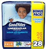 GoodNites Boys Underwear for Nighttime, L-XL (60-125 lbs), 28-Count Package, Health Care Stuffs