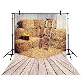 Allenjoy 5x7ft Farm Photography Backdrop Background Old Fall Barn Decoration Photo Studio Photobooth Prop for Newborn Baby Shower Kids