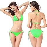 Women's Tie Side Bikini Swimsuit Triangle Bikinis Bottom Set