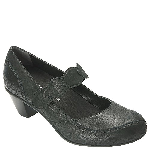 Drew Women's Monaco Mary Jane,Dusty Black Leather,US 12 WW (Drew Leather Mary Janes)