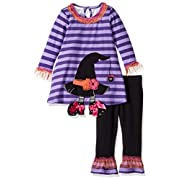 Bonnie Baby Baby Girls' Holiday Dresses and Legging Sets, Witch, 0-3 Months