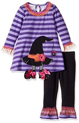 Bonnie Baby Girls' Holiday Dresses and Legging Sets, Witch, 24 Months