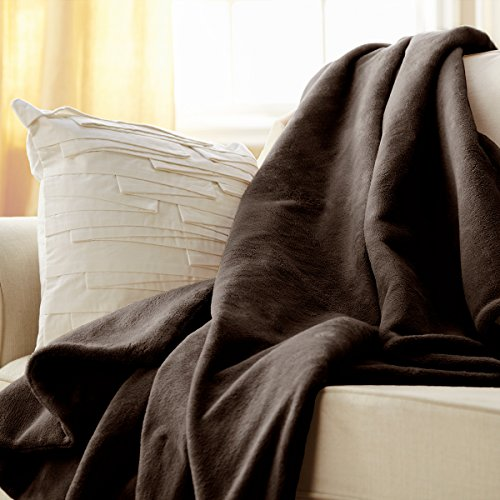 Sunbeam Microplush Heated Throw, Walnut, TSM8US-R470-25B00
