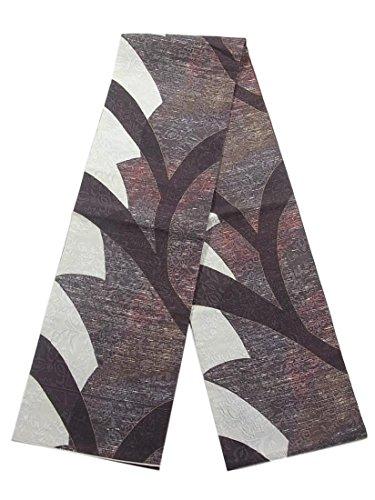 シフト下にガイドリサイクル 全通 袋帯 抽象模様 唐花唐草 ふくれ織り 正絹