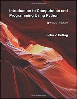 Introduction To Computation And Programming Using Python Ebook