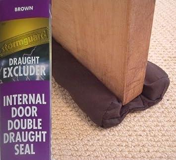 Excluidor de tiro doble de puerta interna - Paño marrón 910 mm: Amazon.es: Bricolaje y herramientas