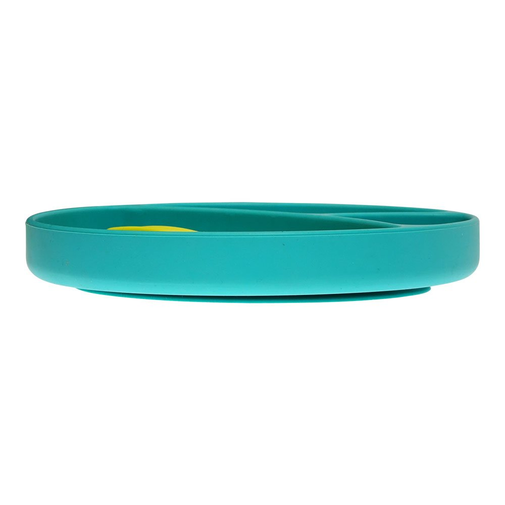 bbl/üv Silicone Suction Plate /& Spoon for Infants and Toddlers Mi/äm Aqua