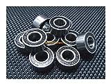 [BLACK] (4 PCS) 686-2RS (6x13x5 mm) Rubber Sealed Ball Bearing Bearings 686RS