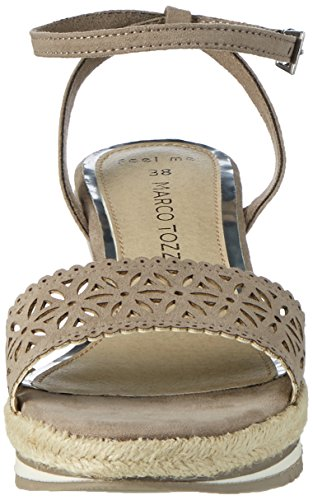 341 Sandales Beige Tozzi Femme Bout 28740 Marco Taupe Ouvert B8HTEx