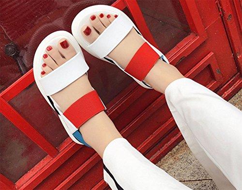 UK5 selvatici femminili KUKI 5 CN38 mischiati 2 opzionali 5 sandali Sandali EU38 US7 studenteschi due di colori w5qFf6q