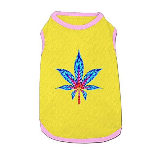 Dog T-Shirt Clothes Blue Weed Doggy Puppy Tank Top Pet Cat Coats Outfit Jumpsuit Hoodie ()