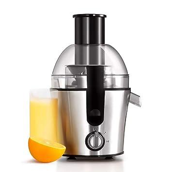 Lndixy Extractor de Jugo, máquina exprimidor de Jugo de Fruta Entera con Tubo de alimentación de 75mm 3 Velocidad Ajuste centrífugo exprimidor de energía: ...
