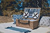 Belmont Wicker Picnic Basket with Deluxe Service