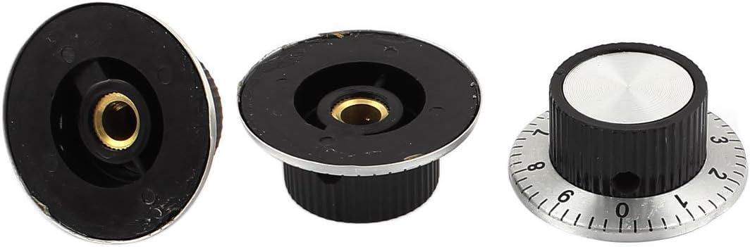 uxcell/® 5Pcs M6 37mm x 15mm Potentiometer Control Volume Rotary Knob w Dial