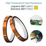 "2 Rolls (0.4""x108ft) CHRYSAN Heat Resistant Tape"