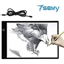 A4 Light Box, Ultra-Thin Portable USB Powered LED Dimmable Brightness Artcraft Tracer Light Pad Copy Board for Artists,Drawing, Sketching, Animation, Designing, Stencilling X-ray Viewing