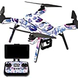 MightySkins Protective Vinyl Skin Decal for 3DR Solo Drone Quadcopter wrap cover sticker skins Blue Petals