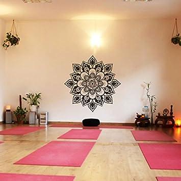 Blume Des Lebens Vinyl Wandtattoo Namaste Blumen Muster Wand Aufkleber  Decoration Fur Yoga Zimmer(