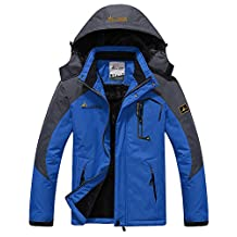 HengJia Men's Waterproof Mountain Jacket Fleece Lined Windproof Skiing Jacket
