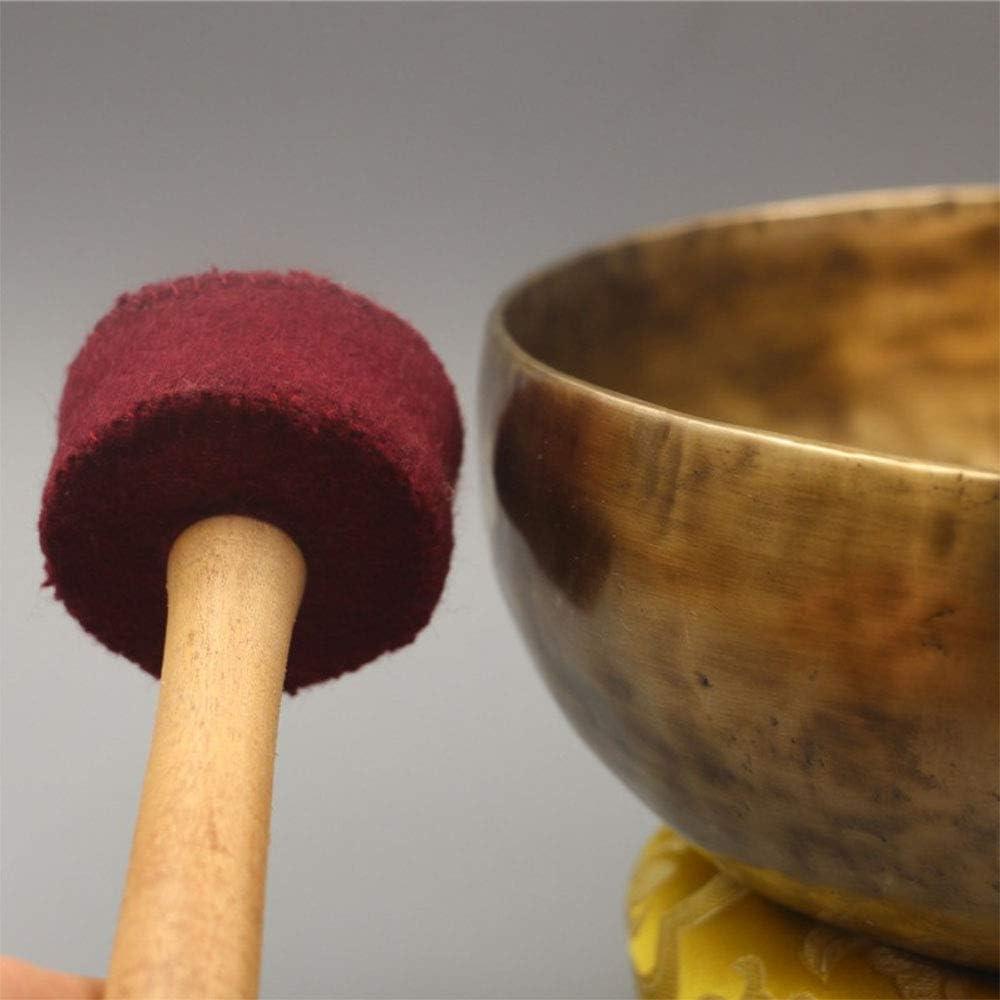 Mat et Le Marteau pour la gu/érison Chakra m/éditation et Relaxation Stress Relief M/étal Bouddhiste tib/étain Singing Bowl Instrument de Musique avec Grinding Rod Yoga