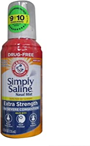 Simply Saline Nasal Mist Extra Strength Severe Congestion 4.25 oz (Pack of 6)