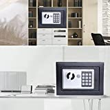 """Electronic Digital Safe Box - Security Box for Home Office Hotel Personal Keep Money Jewelry Securely(8.9"""" X 6.5"""" X 6.5"""") (Black_1)"""
