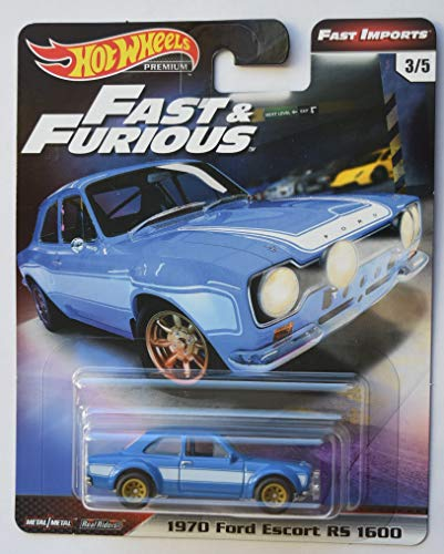 Hot Wheels Fast & Furious Premium Fast Imports, Blue 1970 Ford Escort Rs 1600 3/5 (1970 Ford Escort)