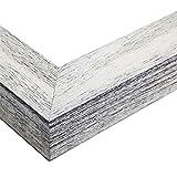 ArtToFrames 6x15 inch Eggshell Rustic Barnwood Wood Picture Frame, 2WOM0066-83235-YWHT-6x15