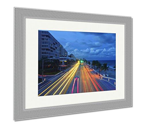 Ashley Framed Prints Fort Lauderdale Beach, Wall Art Home Decoration, Color, 26x30 (frame size), Silver Frame, - Fort Lauderdale Florida To Sunrise