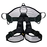 Ingenuity Climbing Harness Professional Mountaineering Rock Climbing Harness,Rappelling Safety Harness - Work Safety Belt (Black 2)