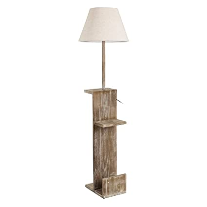 Lámpara librería de Madera marrón rústica para salón Factory ...