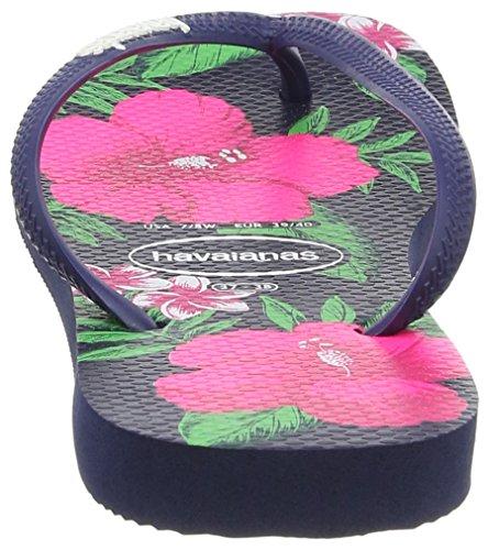 Havaianas Slim Floral - Sandalias Mujer Azul (Navy Blue 0555)