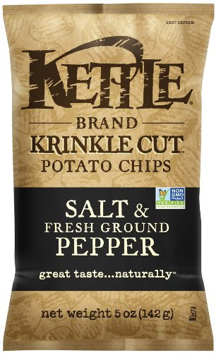 Chips, Krinkle Cut Salt and Fresh Ground Pepper, 5 Ounce Bags (Pack of 8) (5 Ounce Rice Bowl)