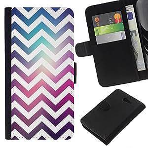 KLONGSHOP // Tirón de la caja Cartera de cuero con ranuras para tarjetas - Espacio púrpura del trullo Moda reflectante - Sony Xperia M2 //
