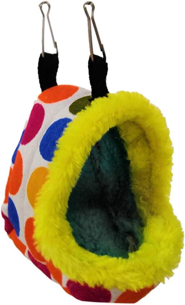 FBGood Nid de Perroquet en Peluche Chaude Hiver Hamac Suspendu Oiseau Cage Velours Plus /épaississement Automne et Hiver Coton Chaud Nid de Coton Perroquet Hamsters Chinchillas /écureuil