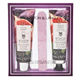 Brompton & Langley 564938 Moisturizing Luxury Body Wash, Hand Cream & Nail File Travel Size Set, Wild Fig & Berry