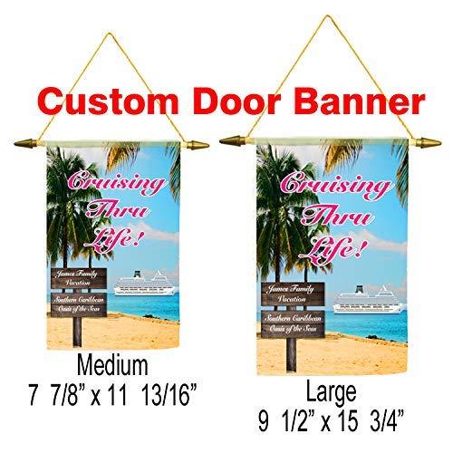 Cruise ship door banner