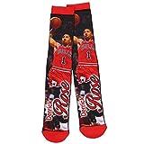 Derrick Rose Chicago Bulls NBA Basketball Player Mesh Crew Socks Size Large FBF