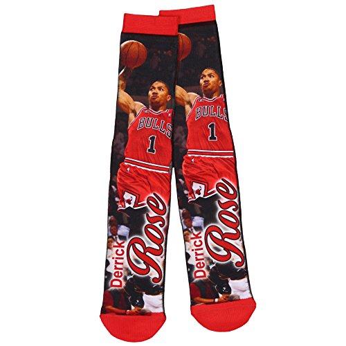 fan products of Derrick Rose Chicago Bulls NBA Basketball Player Mesh Crew Socks Size Large FBF