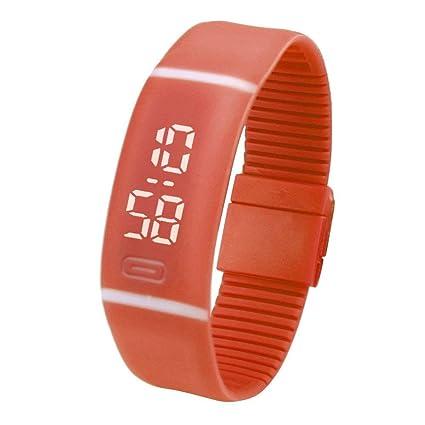 ZHRUI Reloj de las mujeres, moda Reloj LED de goma Deportes ocasionales que corren Gimnasio