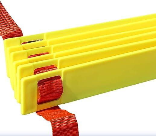 Escalera de velocidad Escalera de Coordinación Entrenamiento de Velocidad de Fútbol, Entrenamiento de Agilidad Entrenamiento de Escalera Trabajo de Pies Rápido Agilidad Ejercicios Ayuda con Bolsa de: Amazon.es: Hogar
