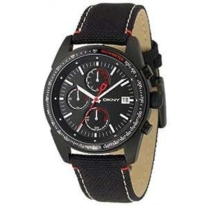 DKNY NY1399 - Reloj para hombres, correa de cuero color negro