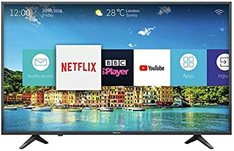 Hisense 43 Inch H43A6250 Smart 4K UHD LED TV with HDR and USB Recording and Video Playback - Freeview Play (Certified Refurbished): Amazon.es: Electrónica