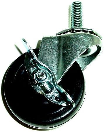 """5"""" Swivel Caster Wheels Rubber Heavy Duty 1//2 13 Threaded Stud Tente Levina"""