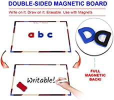 Movable Foam Lowercase and Uppercase ABC with Writing Board and Eraser for Kids Ages 4 5 6 7 8 9 10 11 12 Classroom Educational Alphabet Magnets Kit Inspired Thinkers 240 Pcs Magnetic Letters Set